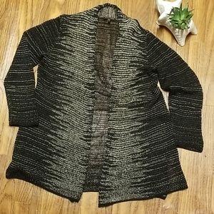 Eileen Fisher Italian yarn open ombre cardigan